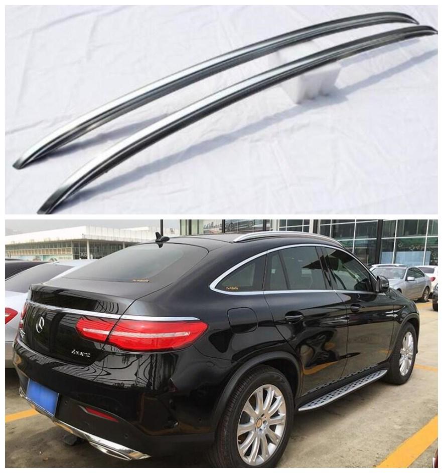 Alta qualidade da liga de alumínio telhado rack de bagagem se encaixa para benz c292 gle coupe GLE320-GLE450 gle amg 2015 2016 2017 2018