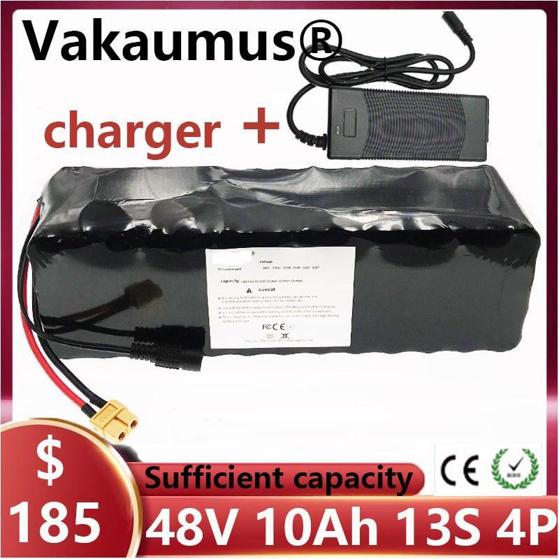 BMS 13s4p 48V, batería de litio de bicicleta eléctrica + cargador de 10Ah 18650, célula adecuada para bicicleta eléctrica de motocicleta