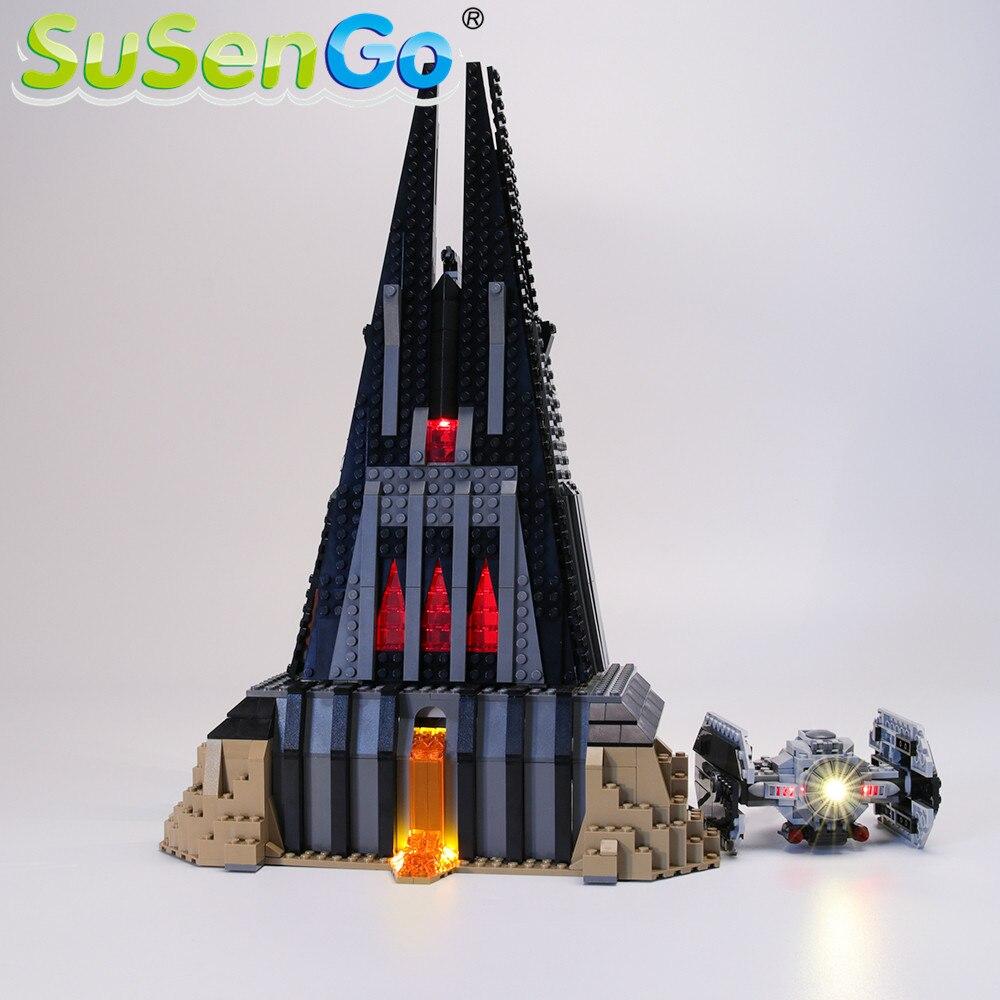 SuSenGo, kit de luces LED para la serie Star Wars, juego de iluminación para construcción de Castillo de ladrillos Darth Vader Compatible con (modelo no incluido)