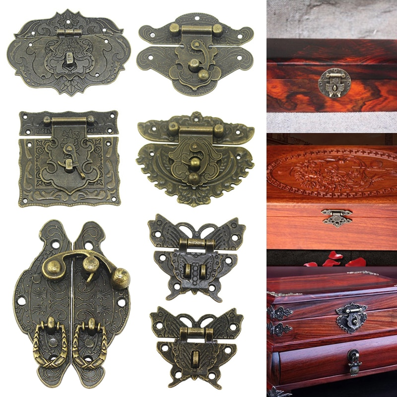 Wooden Case Hasp Jewelry Box Lock Chests Cases Latch wooden box Furniture Buckle Clasp