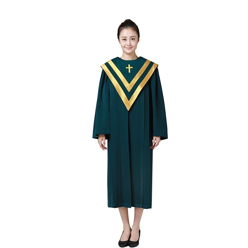 Choir Dresses-فستان كاهن للرجال ، لوصيفات الزفاف ، التخرج الكنسية ، زي الحفلات ، زي الجوقة الكنسية ، 3 ألوان