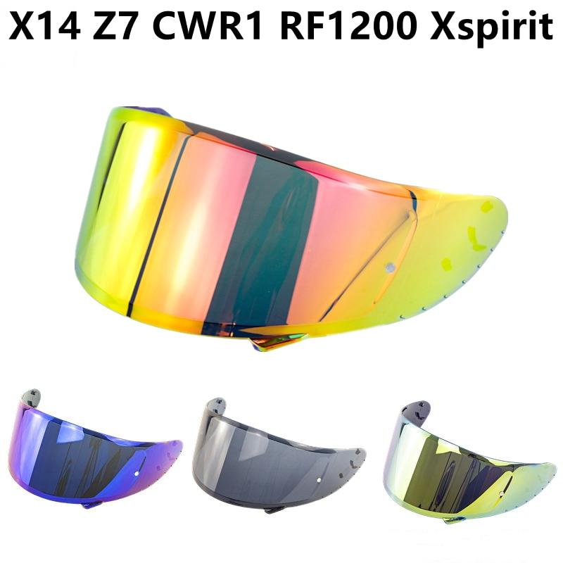 Helmet Visor for Motorcycle Helmets X14 Z7 CWR1 RF1200 Xspirit Helmet Lens Shield Windshield Motorcycle Helmet Accessories
