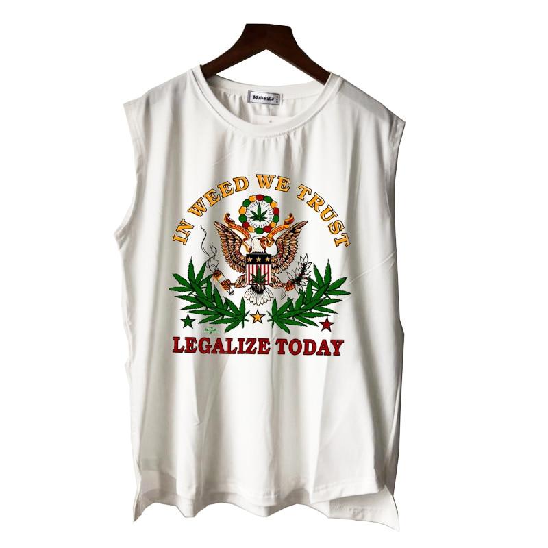 reggae rasta in weed we trust legalize today 420 men women boy girl tank tops casual punk hip hop summer vest sleeveless tee