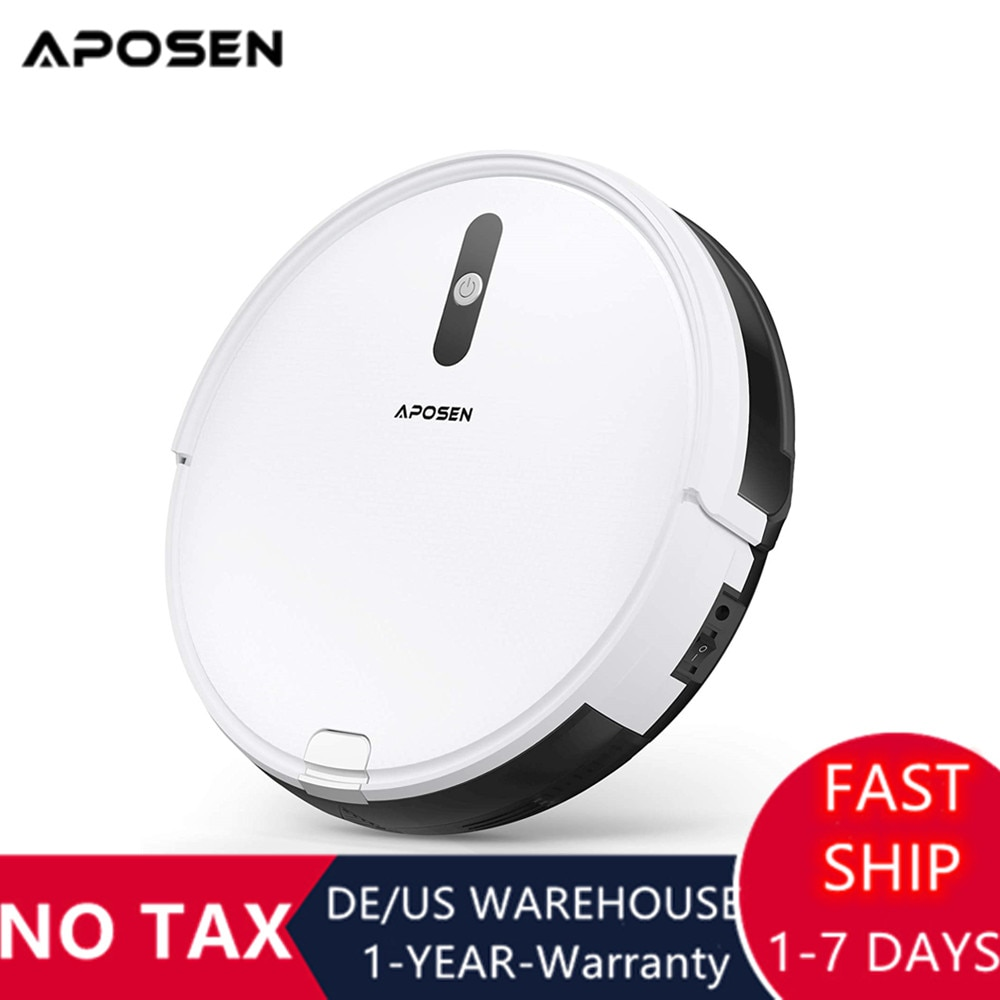 Aposen A450 Robot Vacuum Cleaner 1500Pa Suction Sweeping Mopping Remote Control Planned Route Auto Charge For Home Floor Carpet cheap robot cleaner auto sweeping mopping kk6l mini robotic vacuum cleaner easy to clean wooden floor tiles carpet