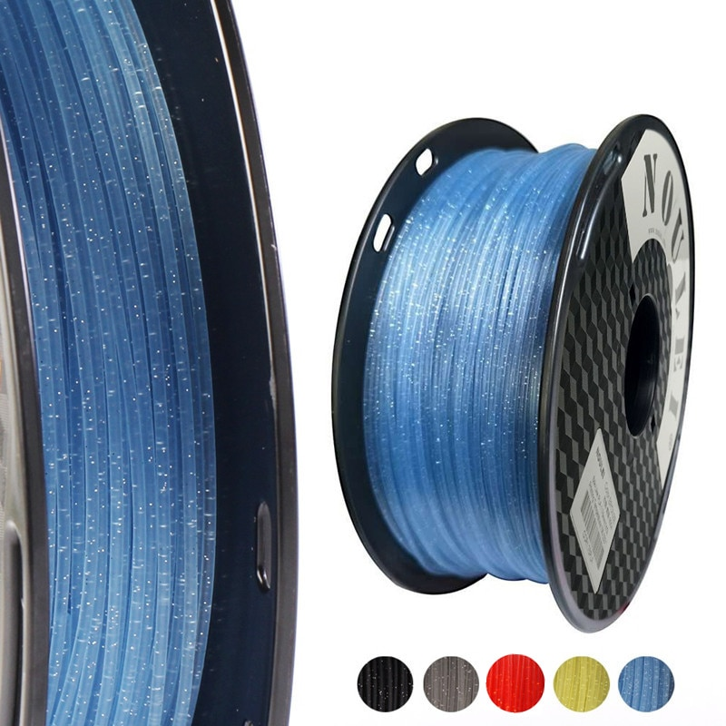 PLA Crystal 3D DIY Printer Filament Sparkle 1.75mm 250g Shining 3D Printing Material Glittering PLA Glistening Plastic Filaments
