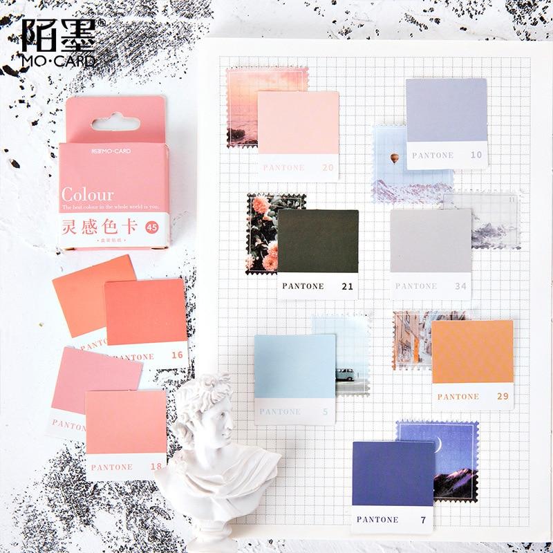 45-pz-set-ispirazione-carta-a-colori-adesivi-di-carta-decorativo-scrapbooking-fai-da-te-proiettile-diario-diario-di-cancelleria-pacchetto-di-adesivi-carino