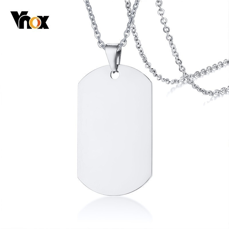 Colgante Vnox con espejo de collar de acero inoxidable con cadena O de 20/24 pulgadas