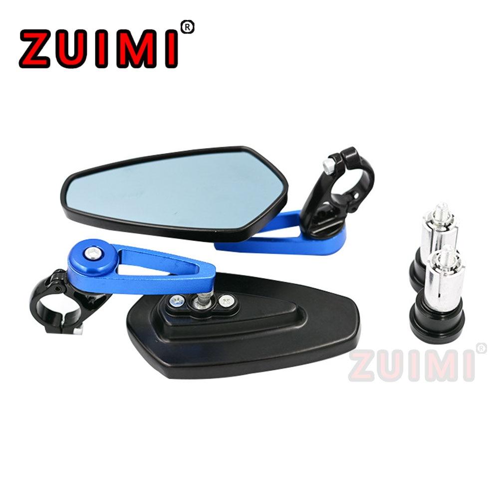 Espejo retrovisor Universal de 7/8 pulgadas y 22mm, barra de aluminio, giratorio...