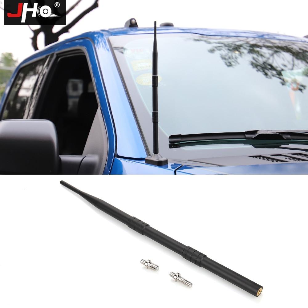 Jho antena de rádio curto para ford f150 2009-2018 raptor pickup truck estilo acessórios bala estilo stubby antena 2017 2016 15
