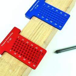T60 t-tipo régua buraco scribing medição medidor de madeira carpintaria scriber calibres protratores carpenter scribe ferramentas de medição