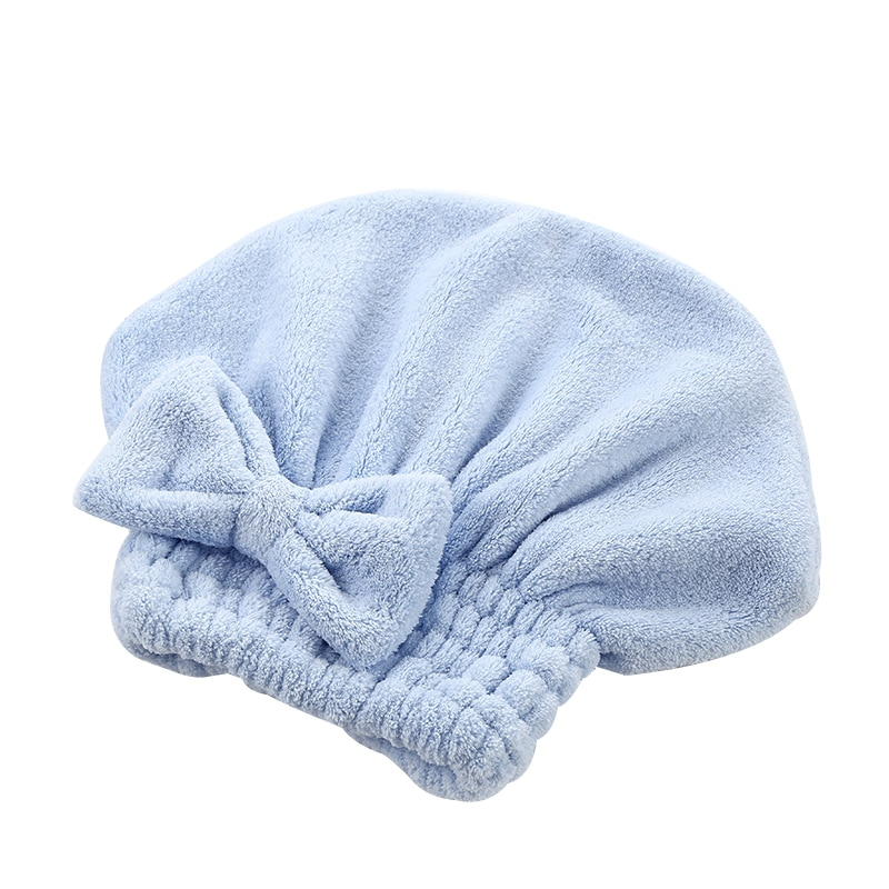 Thicken Cartoon Microfiber Hair Quickly Dry Hair Hat Wrapped Towel Bowknot Bathing Cap for Bath Saunas Spa Hair Cover enlarge