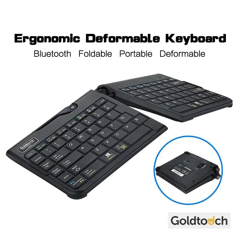 Goldtouch مريح بلوتوث لوحة مفاتيح صغيرة لاسلكية قابلة للطي تشوه المحمولة لمط للكمبيوتر ماك بوك الكمبيوتر المحمول