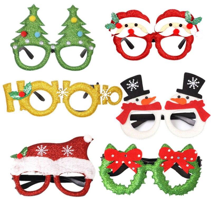 Festa de natal óculos santa boneco de neve rena decoração de natal óculos prop adulto crianças presentes feliz natal 2020