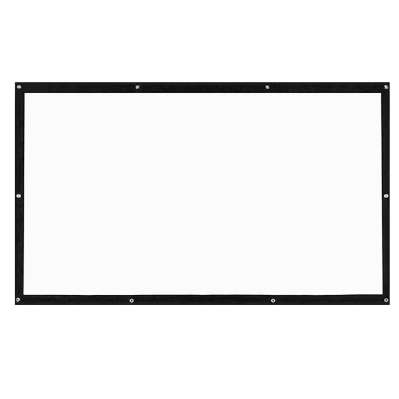 Pantallas de proyección portátiles RISE, pantalla de proyección translúcida montada en pared Hd 3D de 120 pulgadas, pantalla de proyección Led en lienzo 169 Diy