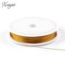 XINYAO-ficelle en acier inoxydable, cordon 45m/rouleau, de couleur, diamètre 0.38/0.45/0.6mm, pour la fabrication de matériaux bijoux à bricoler soi-même