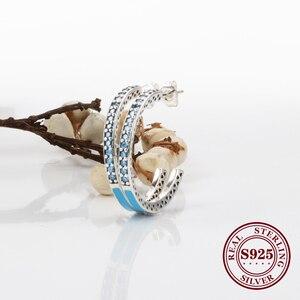 Claudia Valentine Original 925 Silver Epoxy Earrings Color Enamel Earrings Hot Heart-shaped Fashion Shiny Heart Diamond