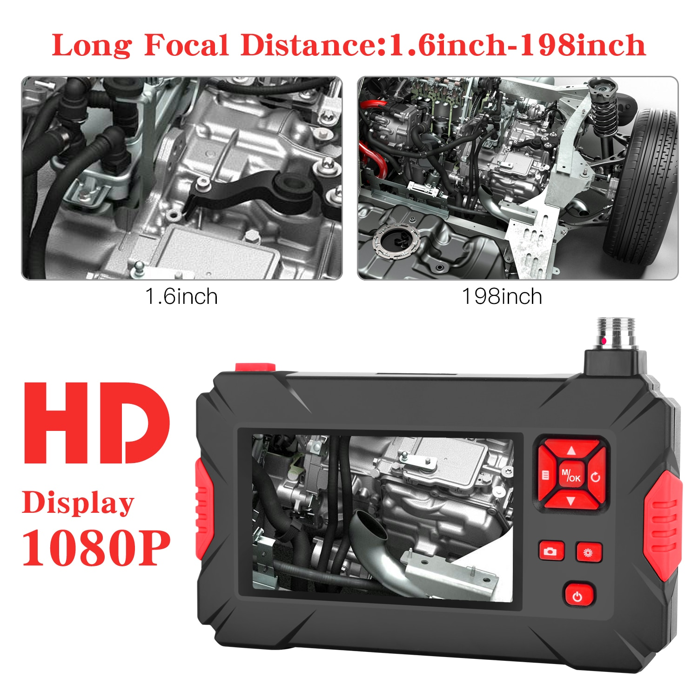 P30 Endoscope Dual Lens Borescope with 8 Adjustable LED  Inspection Camera   endoscope camera IP68  70 degrees mini endoscope