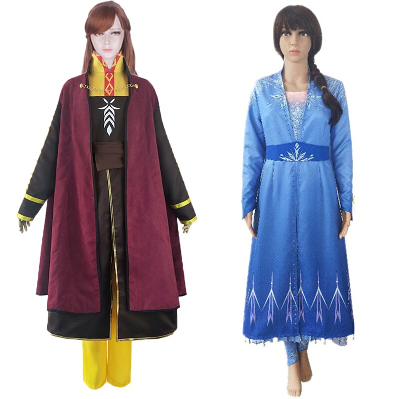 Disfraz de princesa Elsa para mujer adulta, traje de princesa Anna, traje...