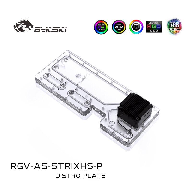 BYKSKI الاكريليك مجلس المياه قناة الحل استخدام ل ASUS ROG Strix هيليو وحدة المعالجة المركزية وحدة معالجة الرسومات كتلة التبريد/RGB ضوء