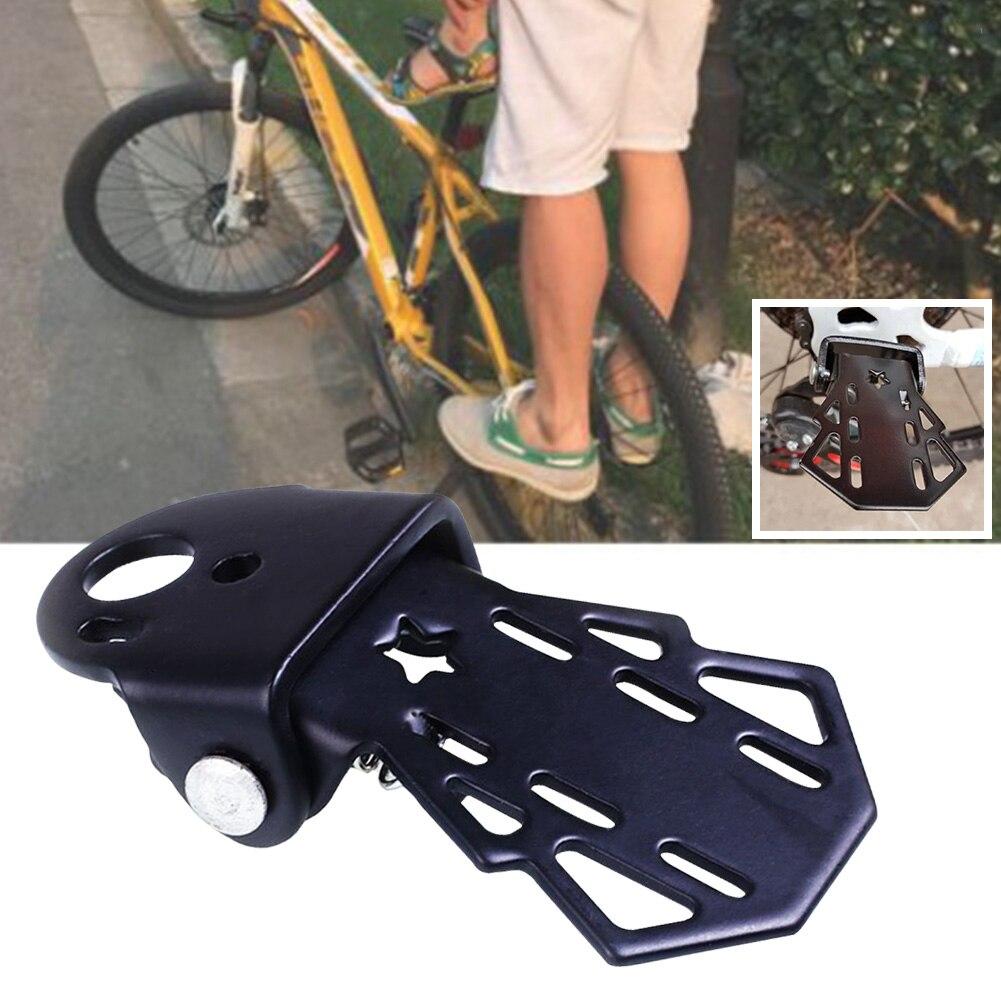 Reposapiés de bicicleta multifuncional, 1 par, con clavija para exteriores, platos para bicicleta de montaña y asiento trasero, accesorios plegables