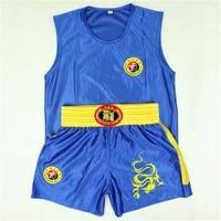 2020 new embroidery dragon kids adults jiu jitsu muay thai mma boxing shorts set sanda grappling sparring uniforms outfits brand