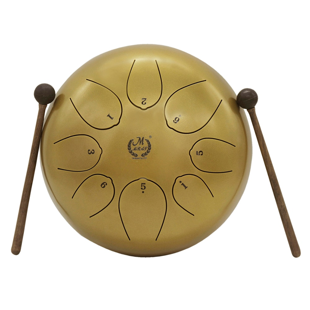 10 Inch 8 Tone Ethereal Steel Tongue Drum Percussion for Yoga Meditation Handpan Tank Drum Musical Instrument With Bag Drumstick enlarge