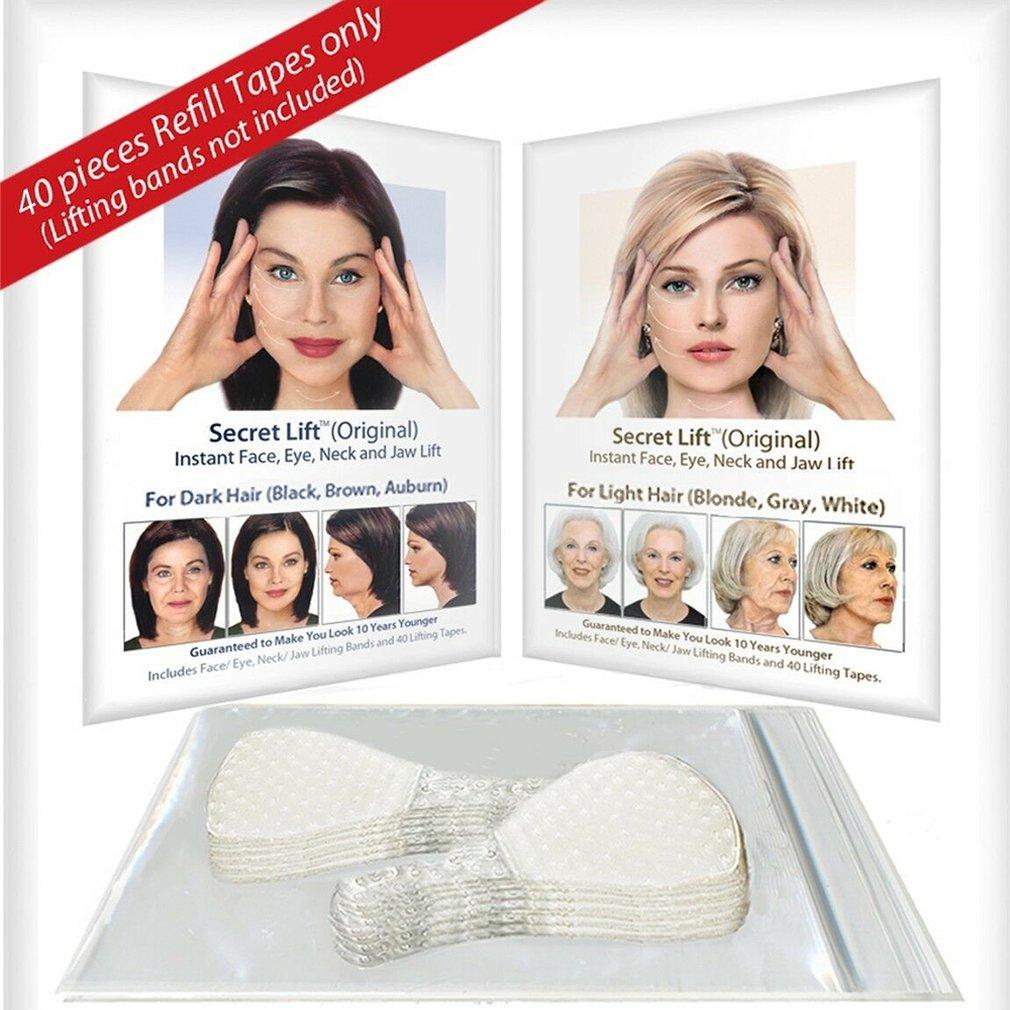 40 Pcs/Set V face shape Thin Face Invisible facial Stickers Facial Line Skin V-Shape Face Lift Tape
