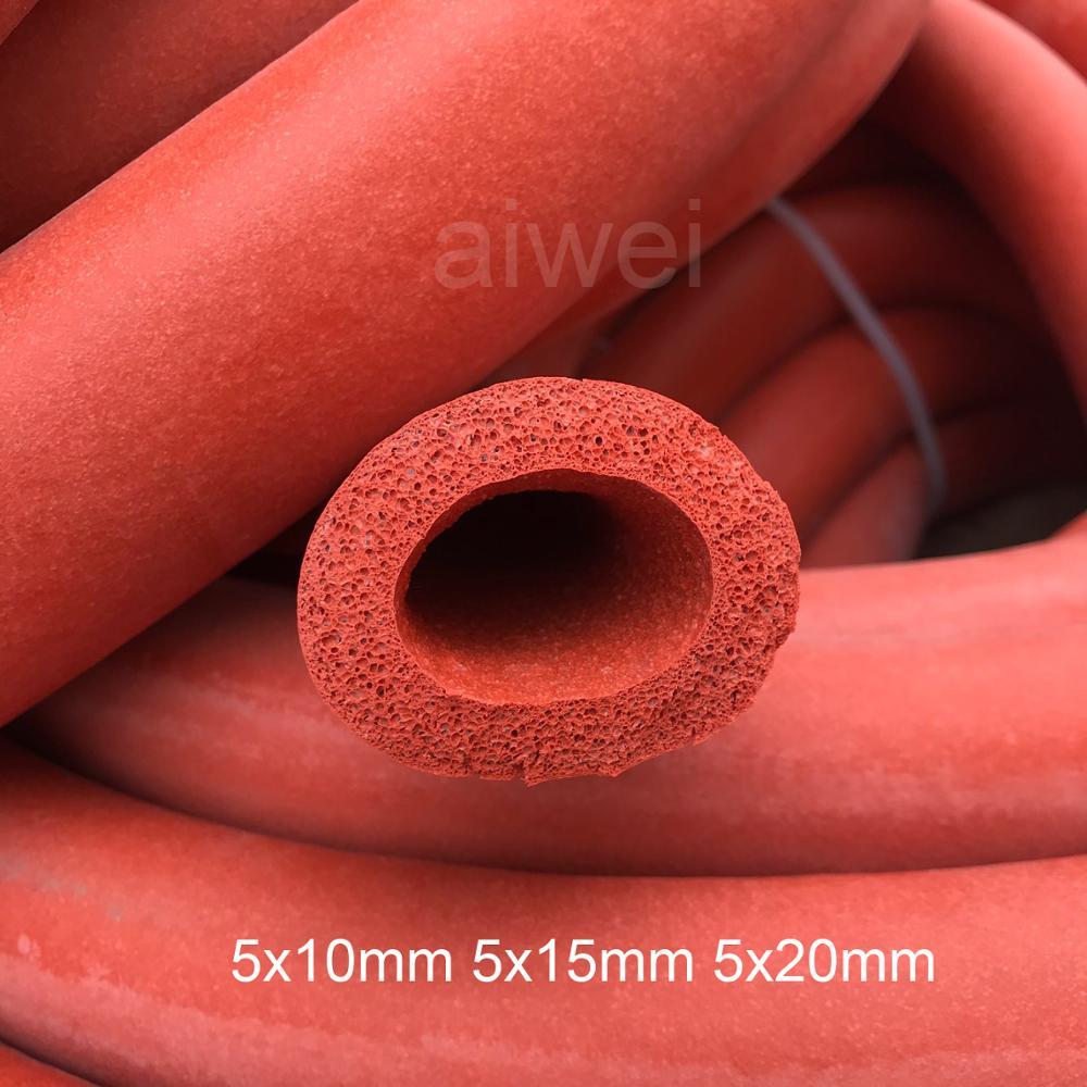 5mm id tubo de espuma de silicone flexível espuma mangueira de silicone esponja embalagem de borracha de silicone luva de silicone isolado tubo de esponja