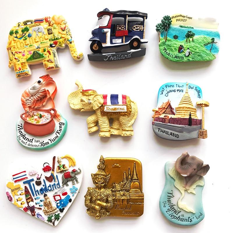 Магнитная наклейка на холодильник Тайланд туристический сувенир Чиангмай слон магнитная наклейка Паттайя Пхукет Самуи Бангкок подарок