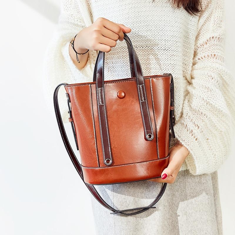 2019 Pack Fashion Bucket Bag Women's Shoulder Bag Slant Bag Large Capacity