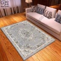 vintage palace flower pattern carpet square anti skid area floor mat 3d rug non slip mat dining room living room soft carpet