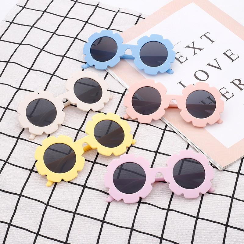 Free shipping   sunflower children's Sunglasses Cute Baby Flower Sunglasses cartoon fashion colorful