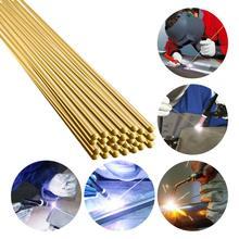 Varillas de soldadura de latón a baja temperatura, soldadura de Gas resistente a la corrosión, soldadura de arco de argón, 33cm x 2mm, 10 Uds.