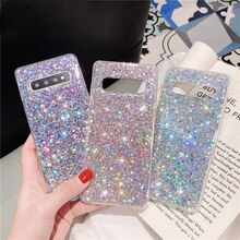 Bling Sequins Glitter Case For Samsung Galaxy S20 Ultra S8 S9 S10 E Plus S7 Edge Note 20 Ultra 8 9 1