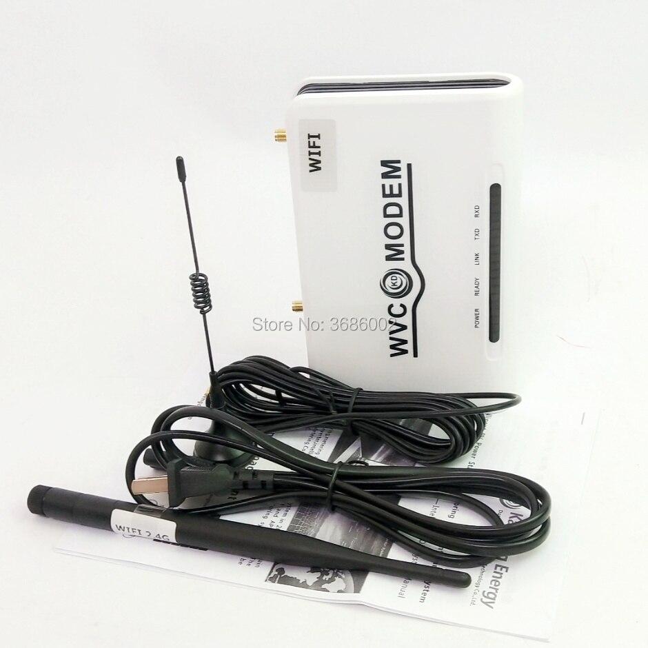WIFI-MODEM-433MHz monitoriza el sistema de alimentación PV mediante la recogida y grabación del estado de funcionamiento del inversor de versión WVC WIFI