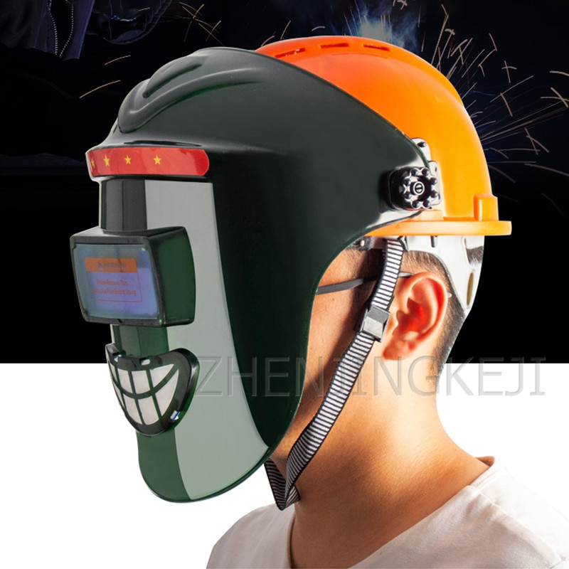 Helmet Automatic Dimming Welding Mask Head-mounted Full Face Comprehensive Protection Welding Cap Welder Protective Equipment