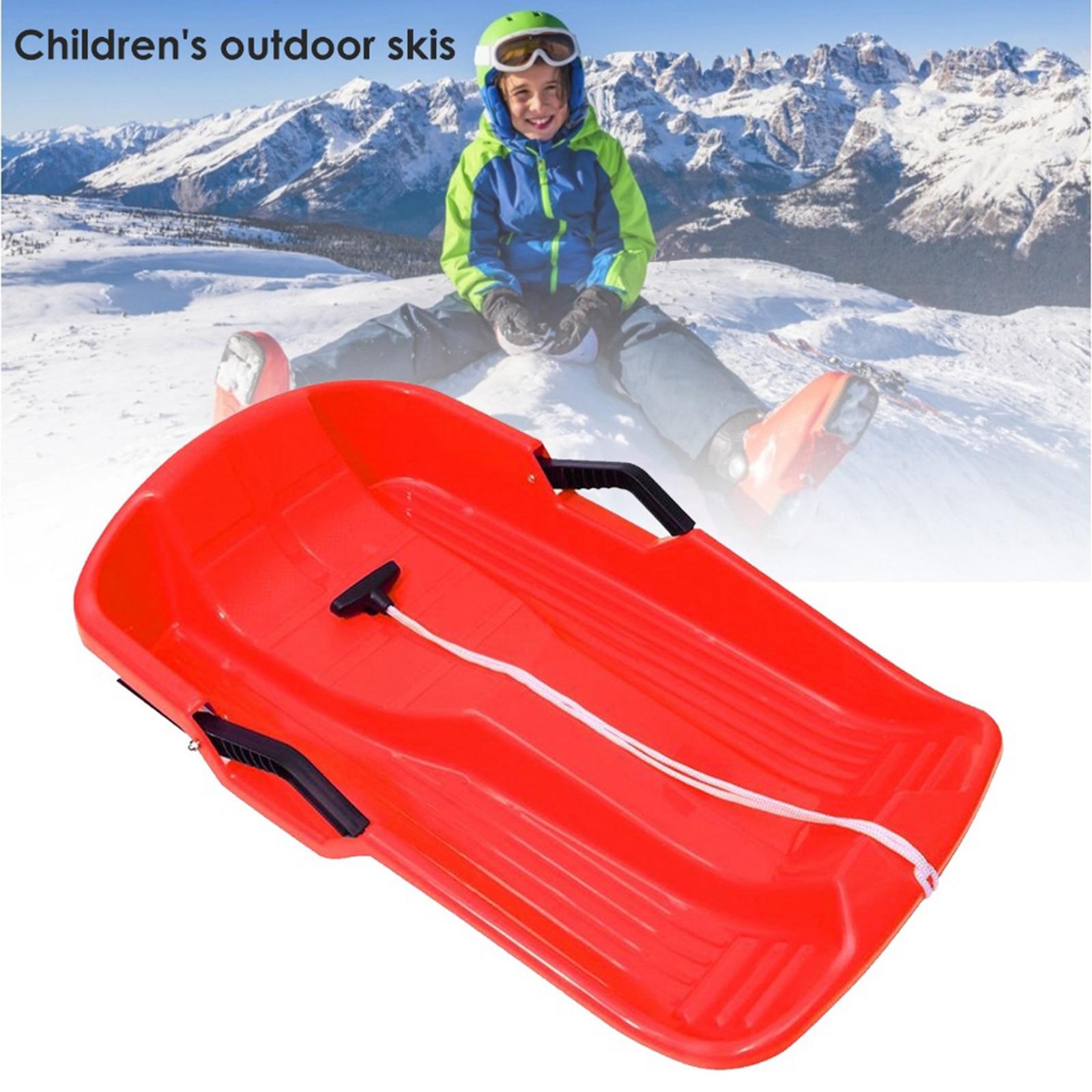 Alta densidade neve downhill trenó toboggan dobrado trenó durável para única pessoa de inverno ao ar livre brinquedo deslizante barco board toboggan