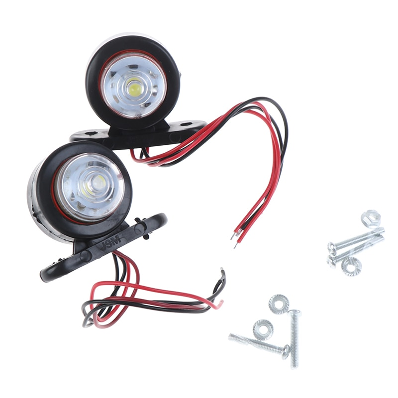 2Pcs Car Truck Trailer LED Side Marker Light White Red Turn Signal Clearance Light Indicator Lamp For Lorry Van Caravans 10-30V