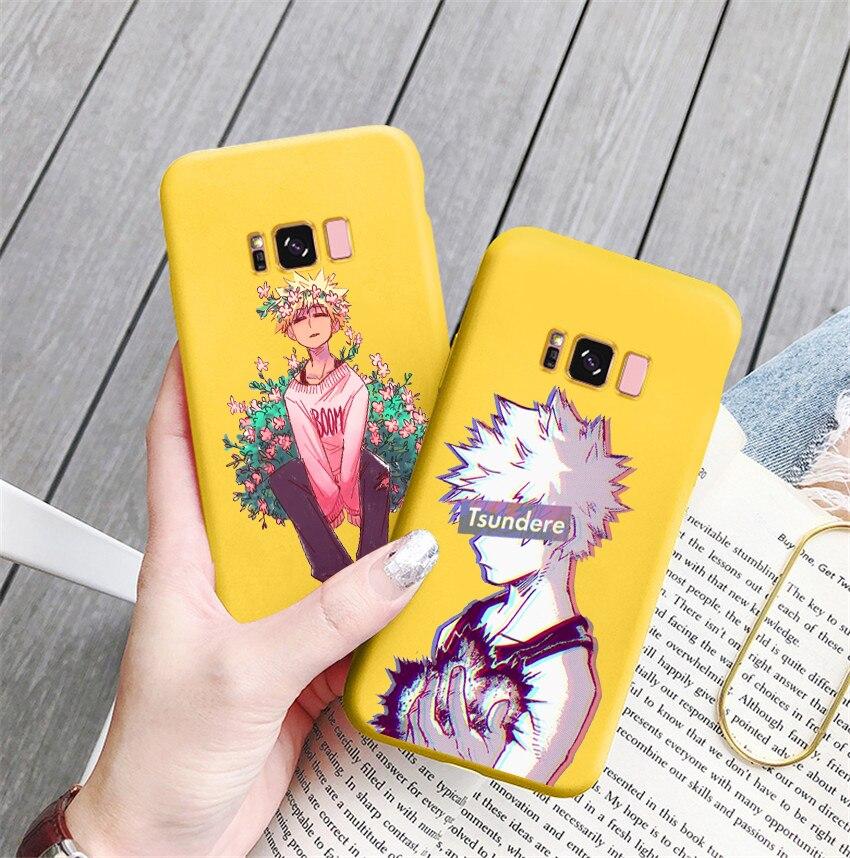 Capa de celular de anime meu herói boku no hero academia, capa macia para celular samsung s8 s8plus s9 s9plus s10 s10e note9 note10,