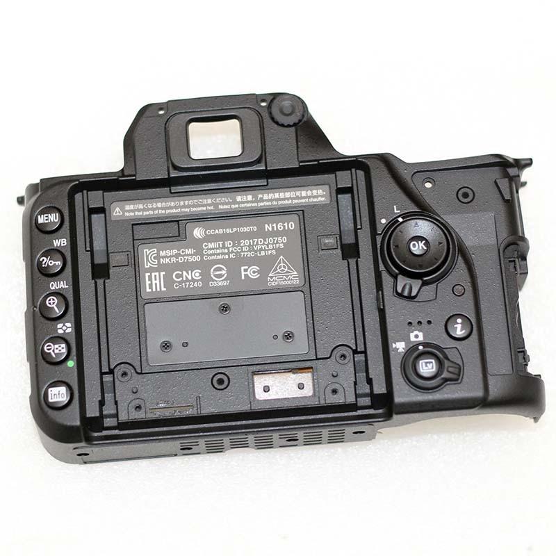 جديد covmplete الغطاء الخلفي assy مع أزرار إصلاح أجزاء لنيكون D7500 SLR