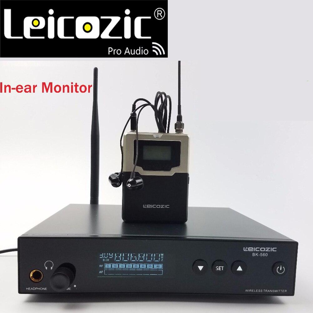 Leicozic monitor de oído profesional-sistema BK560 inalámbrico bodypack receptor iem monitor etapa sistema de monitoreo inalámbrico oído