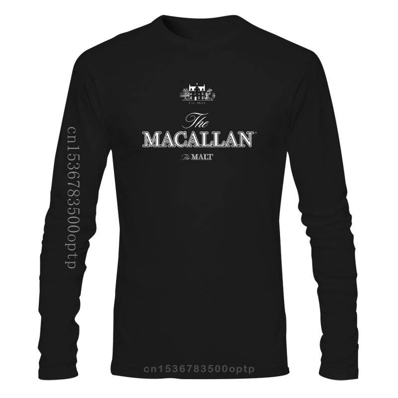 Camiseta negra de manga larga de The Malt Scotch, El macalan Est...