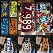 Retro Funny License Plate Number Phone case For Huawei P Mate P10 P20 P30 P40 10 20 Smart Z Pro Lite