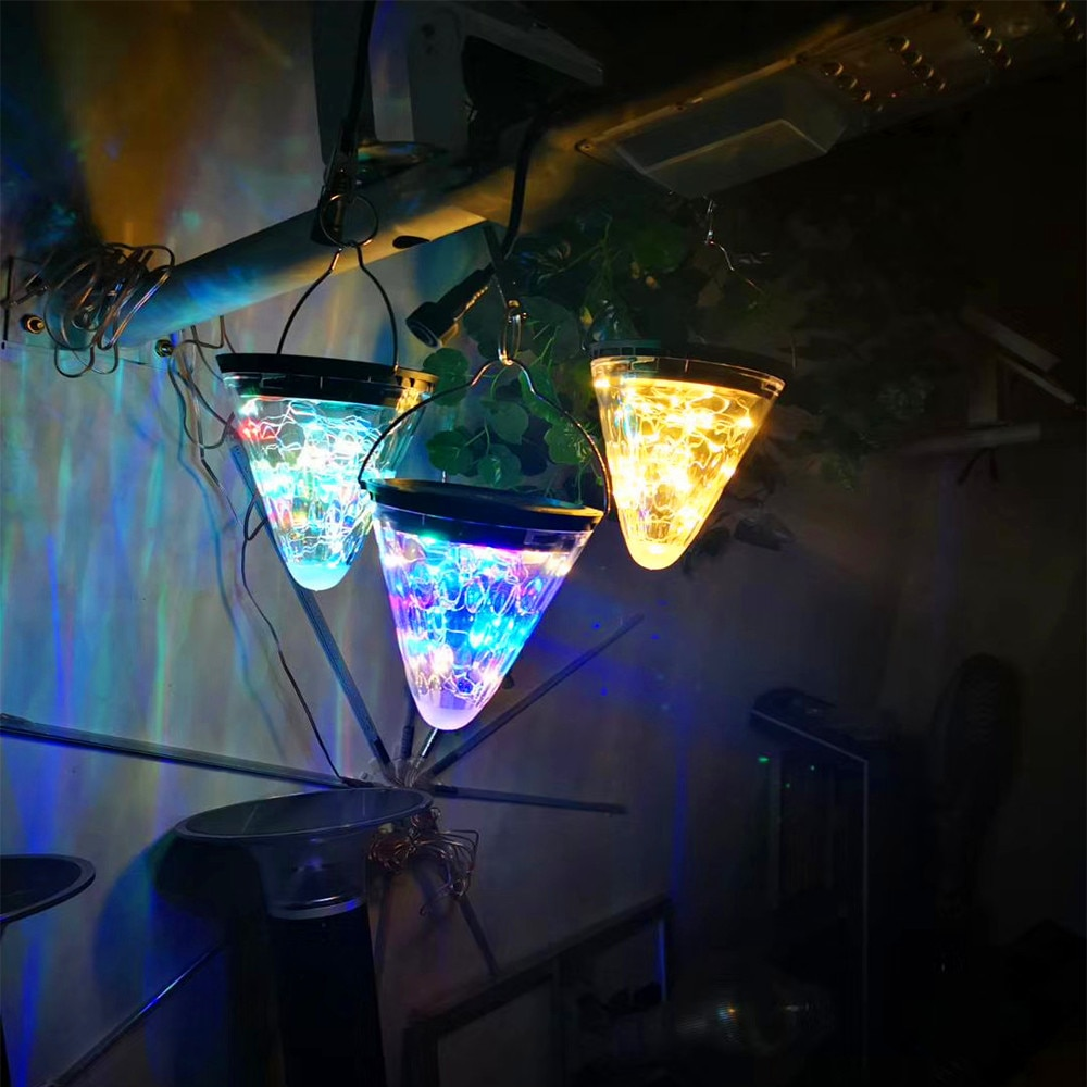 Solar Light Cone-shaped Star Sky Light Hanging Lamp Outdoor Waterproof Garden Courtyard Corridor Decoration Lighting Solar Lamp