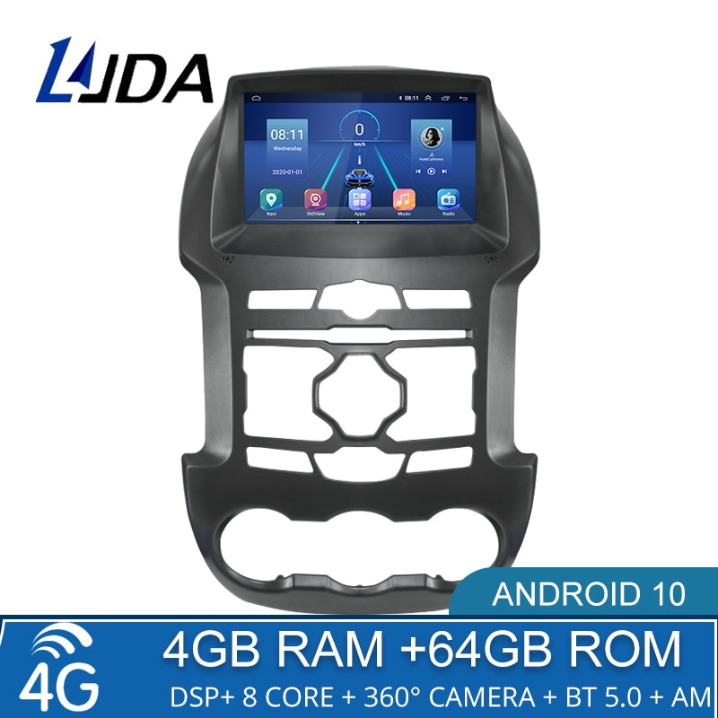 4G + 64G DSP أندرويد 10 سيارة مشغل وسائط متعددة لفورد رينجر F250 2011 2012 2013 2014 2015 لتحديد المواقع والملاحة 2 الدين راديو السيارة ستيريو