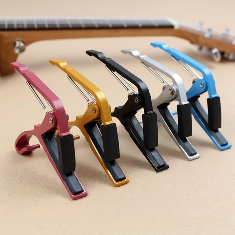 Alta calidad cejilla guitarra acústica Folk guitarra Metal Capo nueva llave de abrazadera de cambio rápido para ajustar el tono GP130