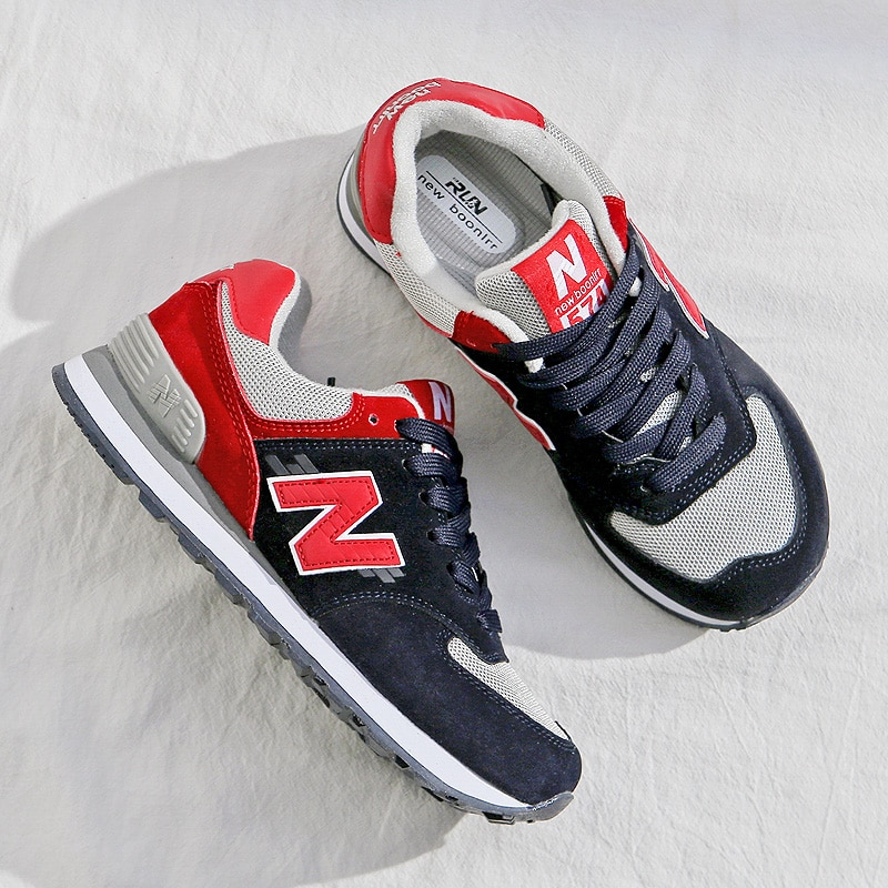 Autumn and Spring New Women's Casual Sports Shoes, Retro N-shaped Shoes, Outdoor Ultra-light Running