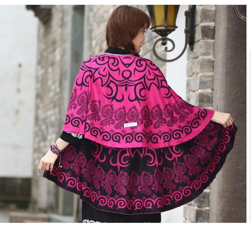 20 cores artiф women women estilo chinês feminino cashmere artificial grosso redondo poncho zizith chal roubou tippet inverno xales pashmina luxo