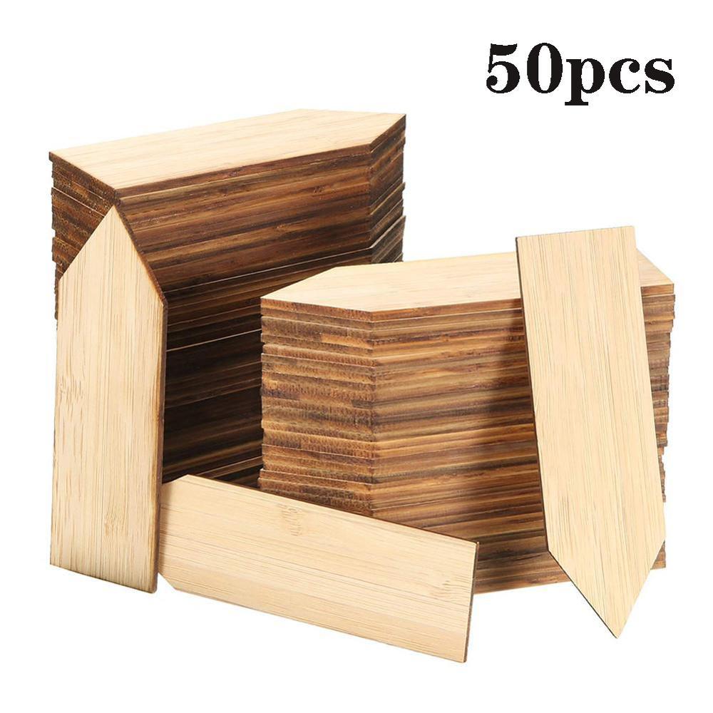 50 шт бамбуковые прослойки в ярлыки завода eco содружественный деревянный завод