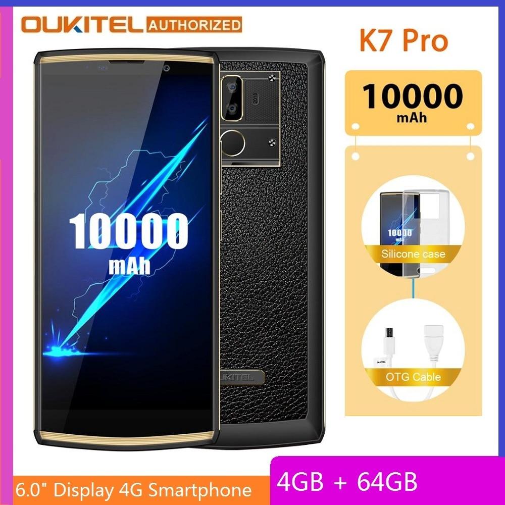 OUKITEL K7 Pro смартфон на Android 9,0, восемь ядер, экран 6,0 дюйма, 4 Гб + 64 ГБ